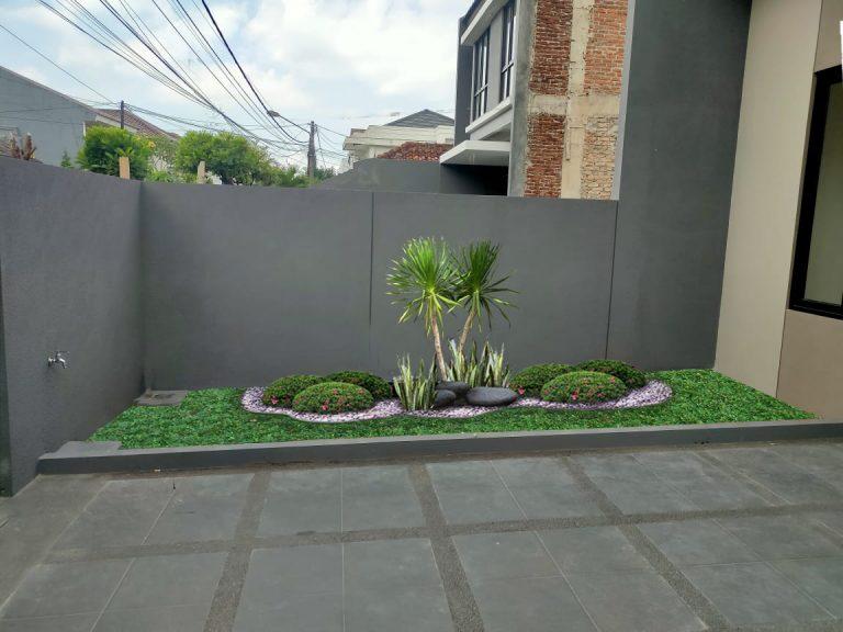 contoh taman depan rumah